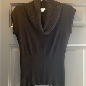 Black Cowlneck Sleeveless Sweater